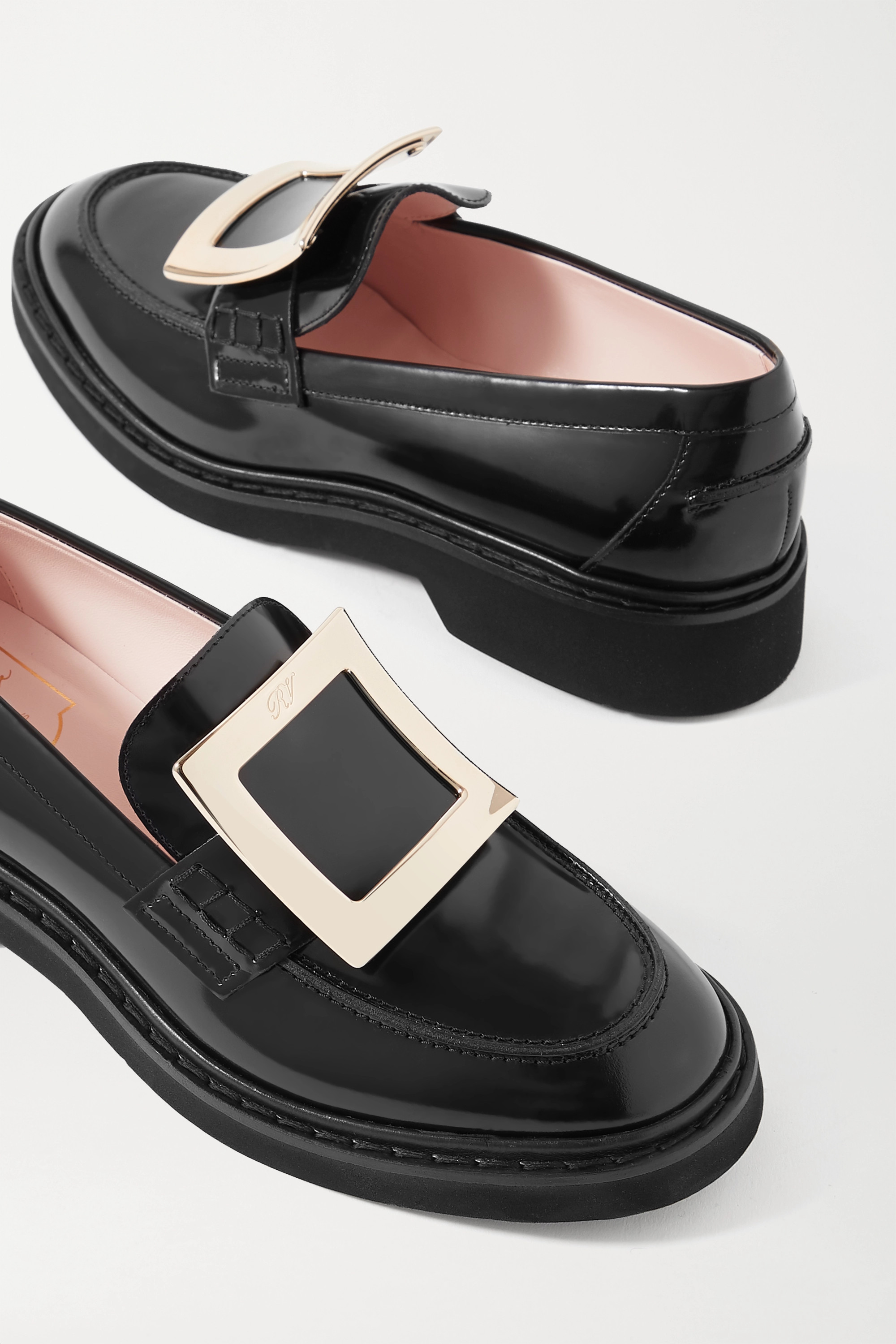 Roger Vivier Viv Ranger embellished patent-leather loafers