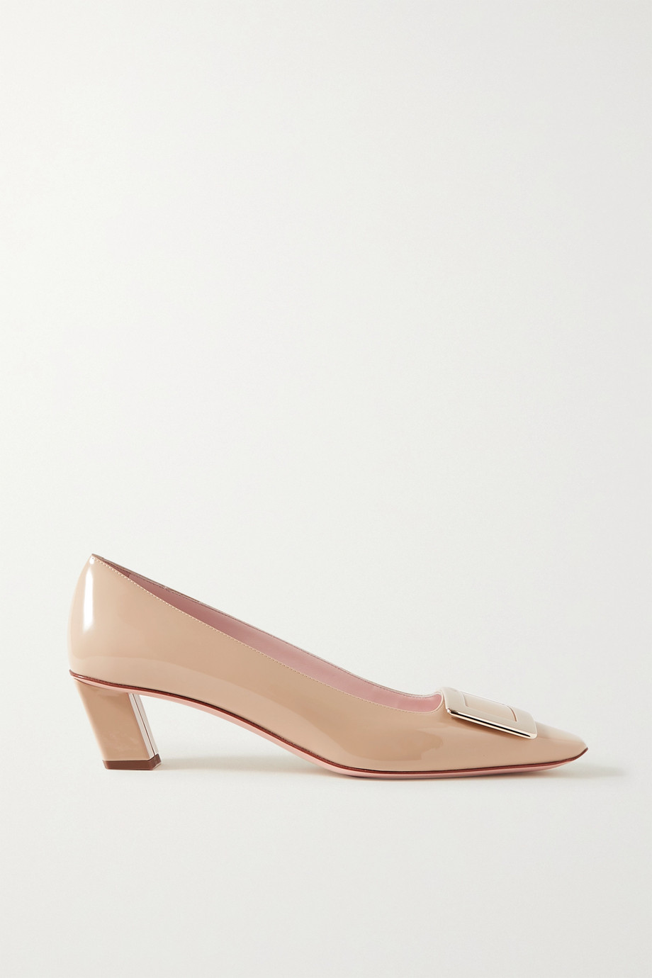 Roger Vivier Decollete Belle Vivier embellished patent-leather pumps