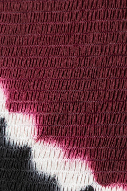 Altuzarra Shibuya schulterfreies Maxikleid aus Seiden-Jersey mit Batikmuster