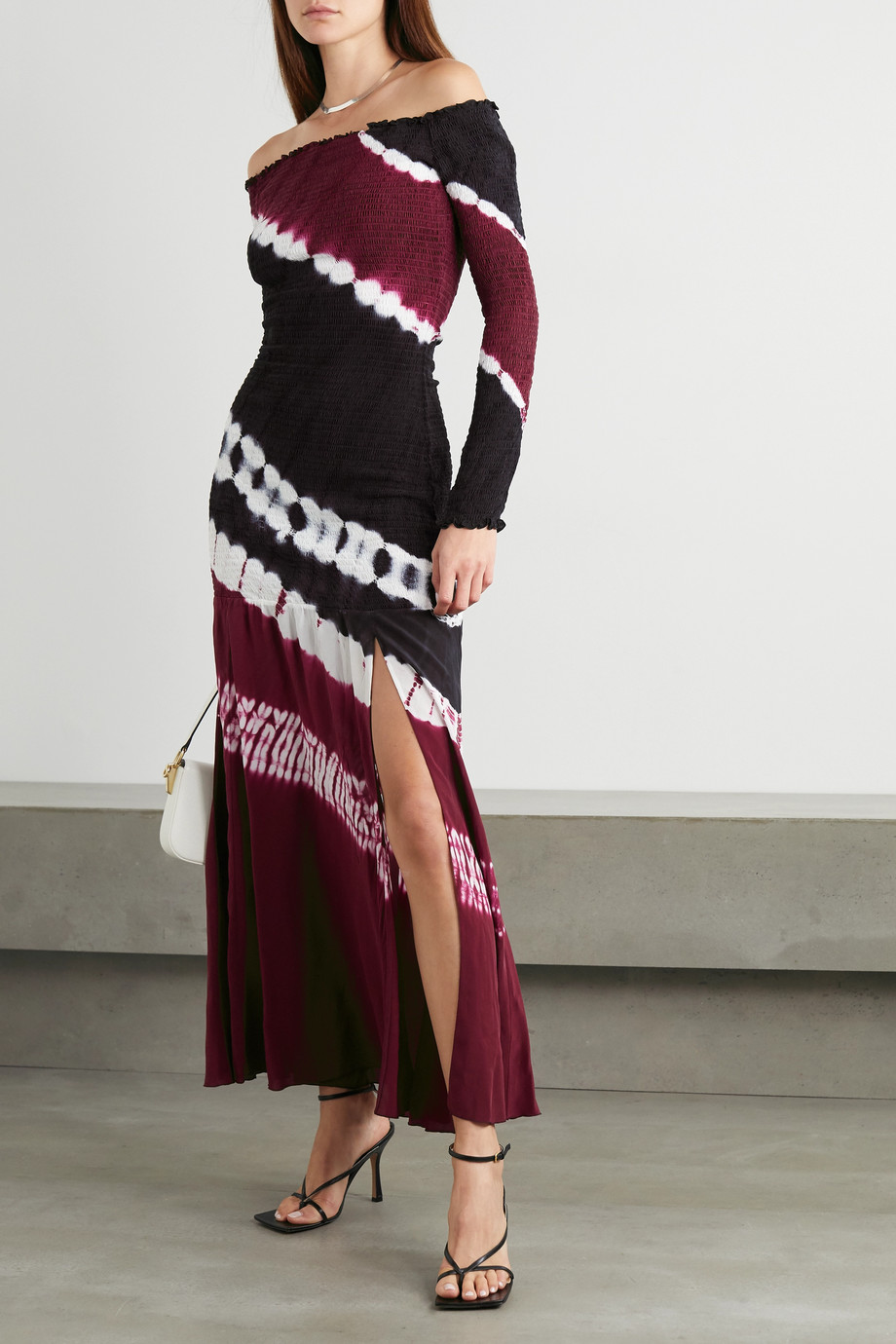 Altuzarra Shibuya off-the-shoulder tie-dyed silk-jersey maxi dress