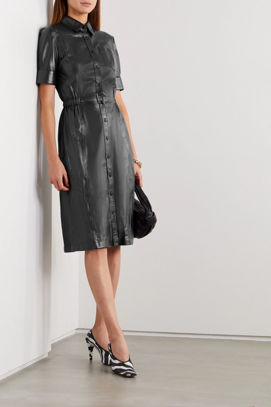 Altuzarra Kura leather shirt dress