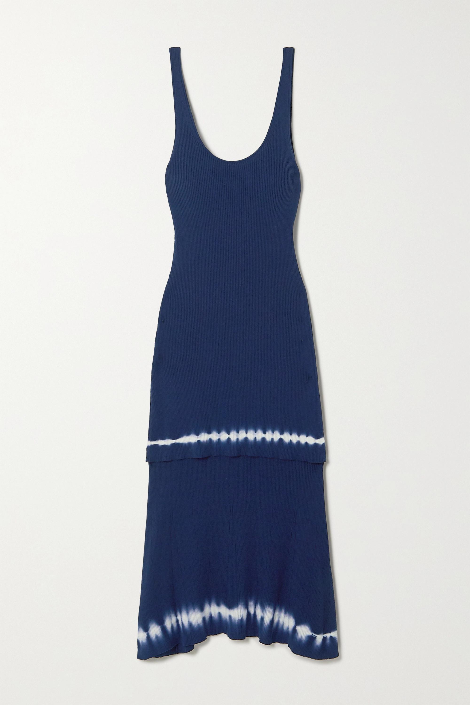 Altuzarra Shinobu layered tie-dyed ribbed Pima cotton-jersey midi dress