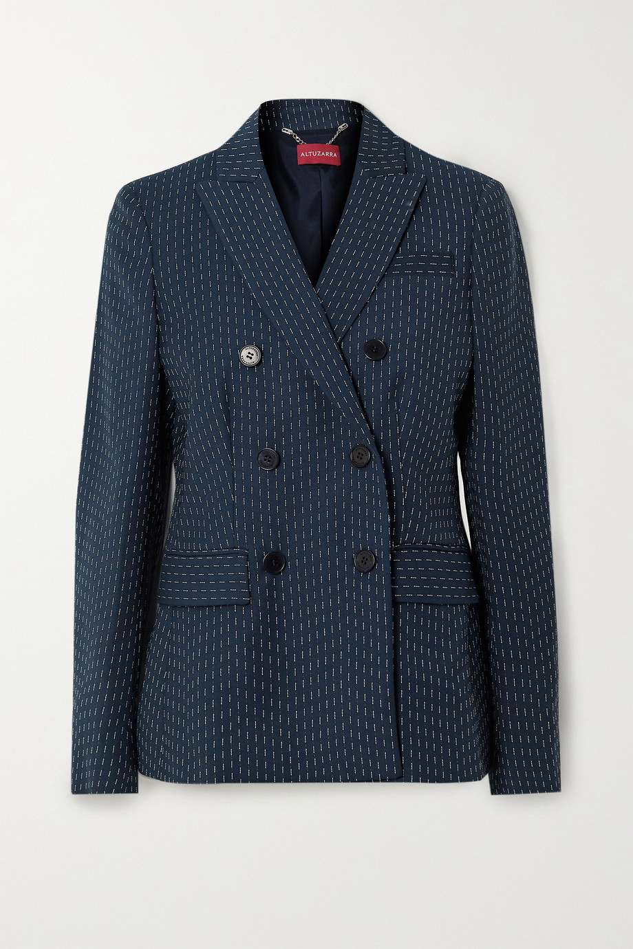 Altuzarra Indiana double-breasted embroidered woven blazer