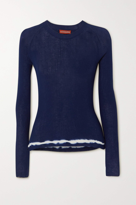 Altuzarra Kazuko ribbed tie-dyed Pima cotton-jersey sweater