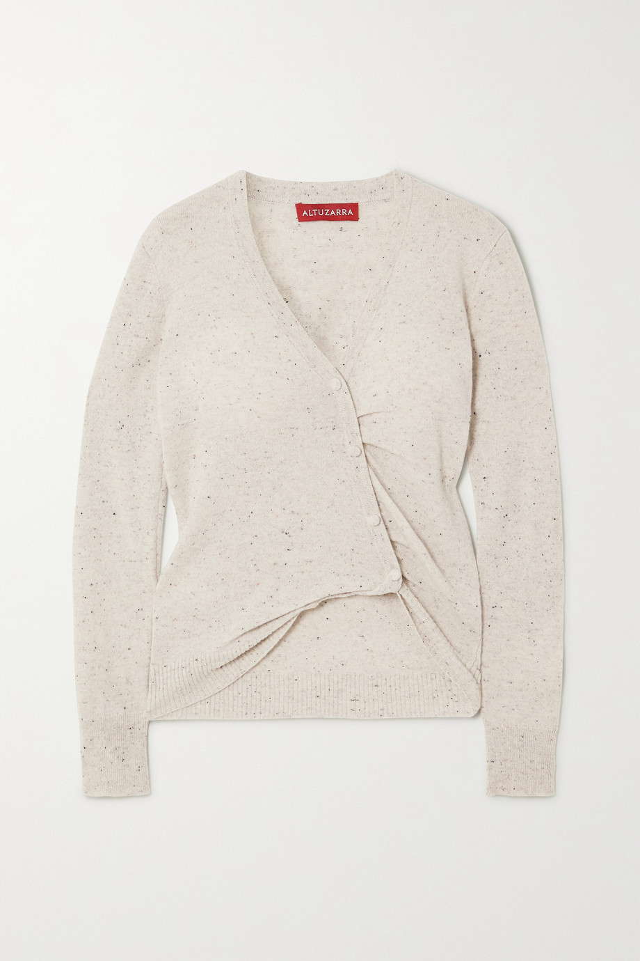 Altuzarra Takara gathered button-embellished cashmere sweater
