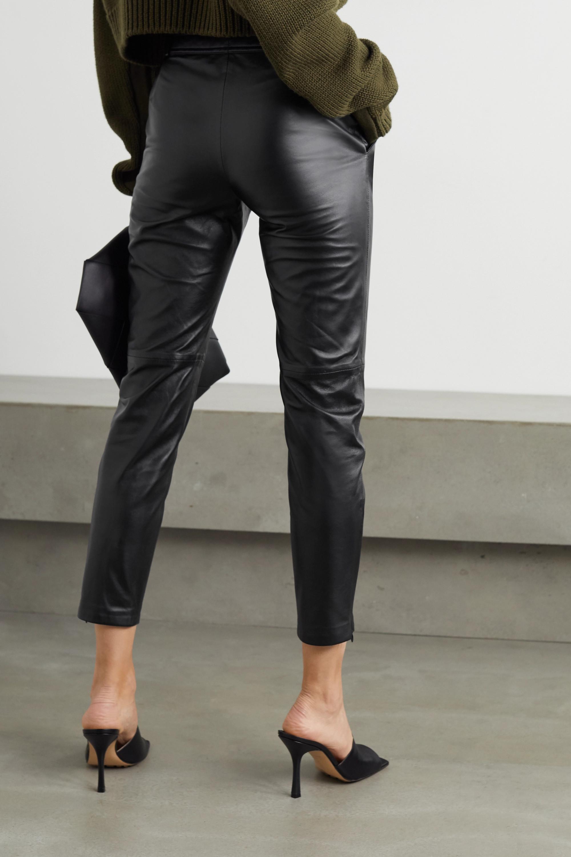Altuzarra Pantalon slim raccourci en cuir Henri