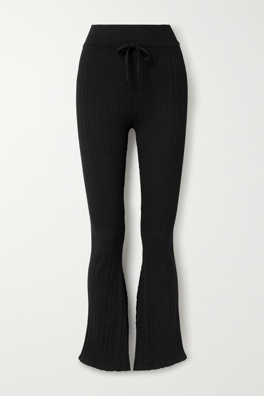 Live The Process Asymmetric ribbed-knit flared pants