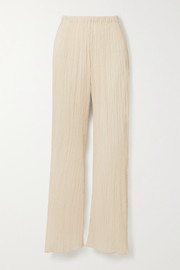 Savannah Morrow The Label The Vidya crinkled organic cotton-gauze pants
