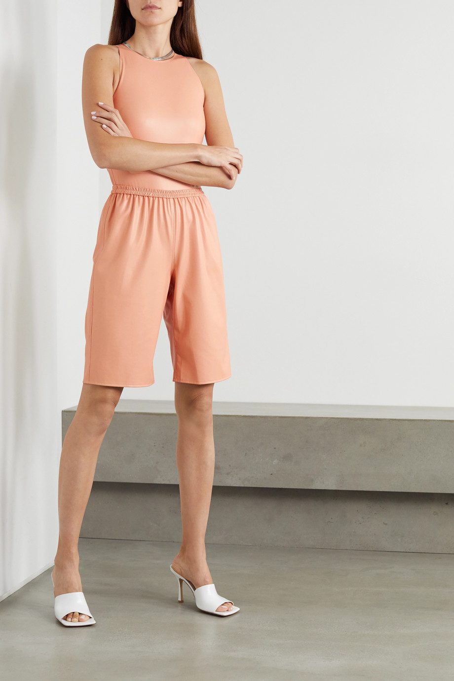 LAPOINTE Faux leather shorts