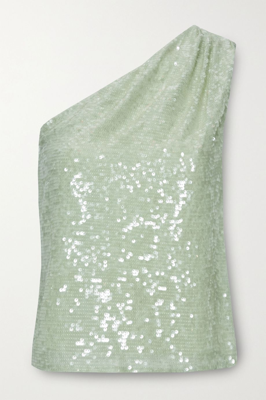 LAPOINTE One-shoulder sequined crepe top