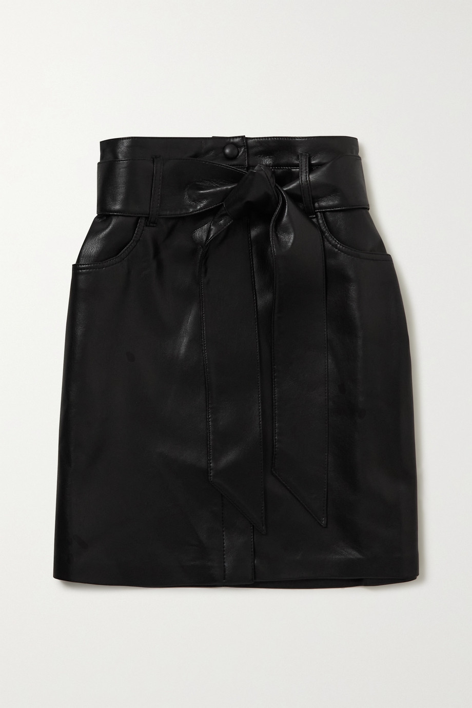 Nanushka Meda belted vegan leather mini skirt
