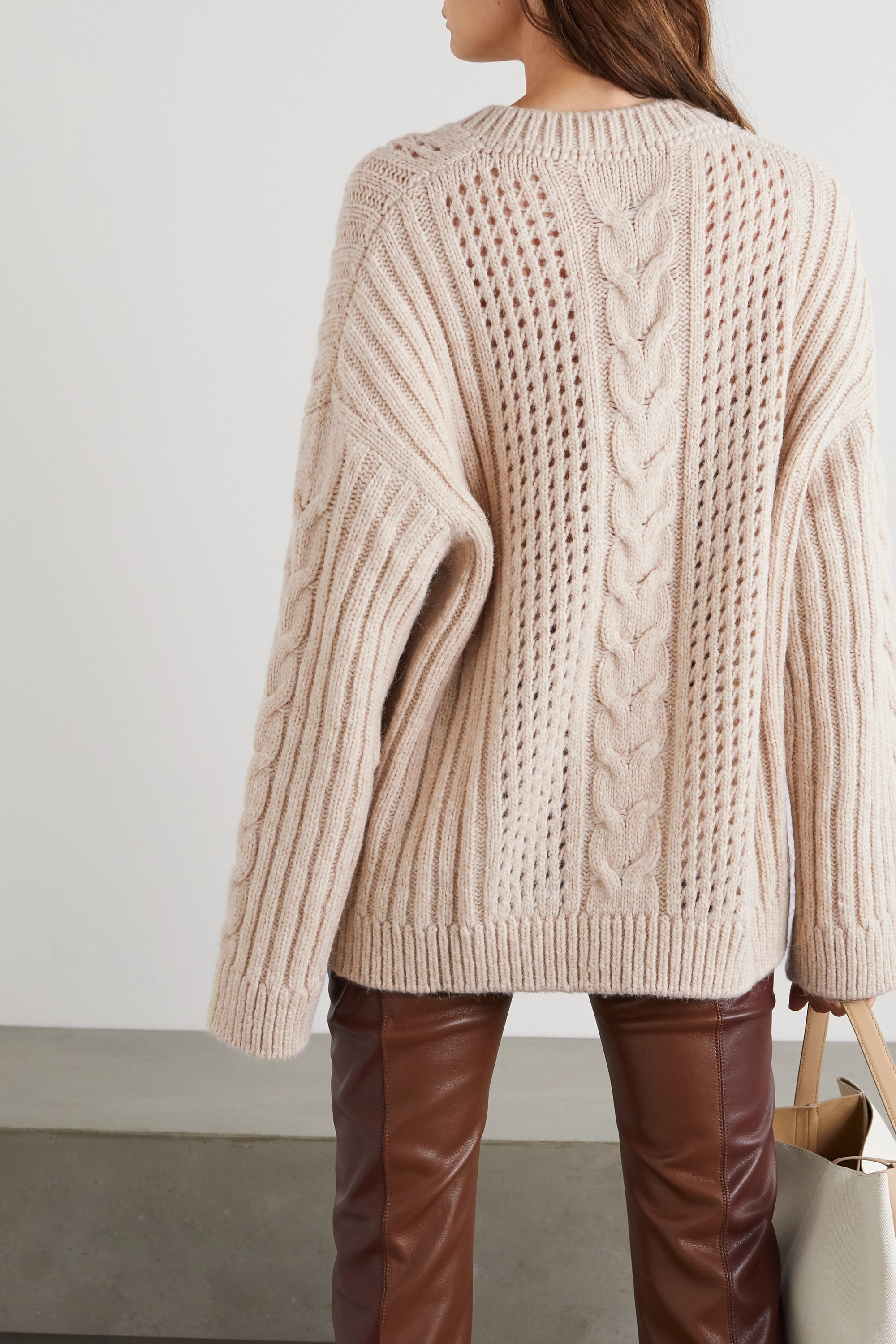 Nanushka Arwan cable-knit sweater