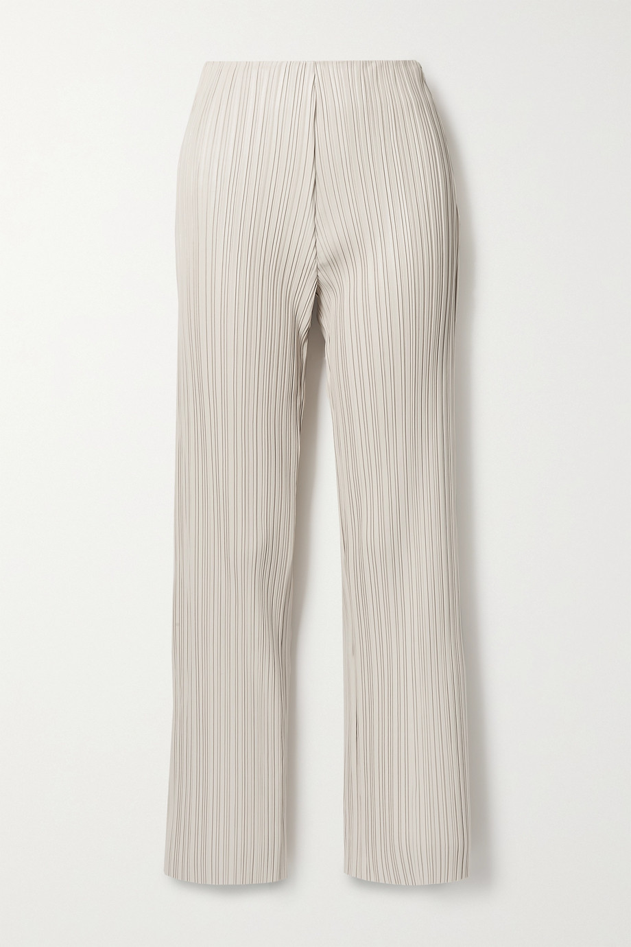 Nanushka Char pleated vegan leather straight-leg pants