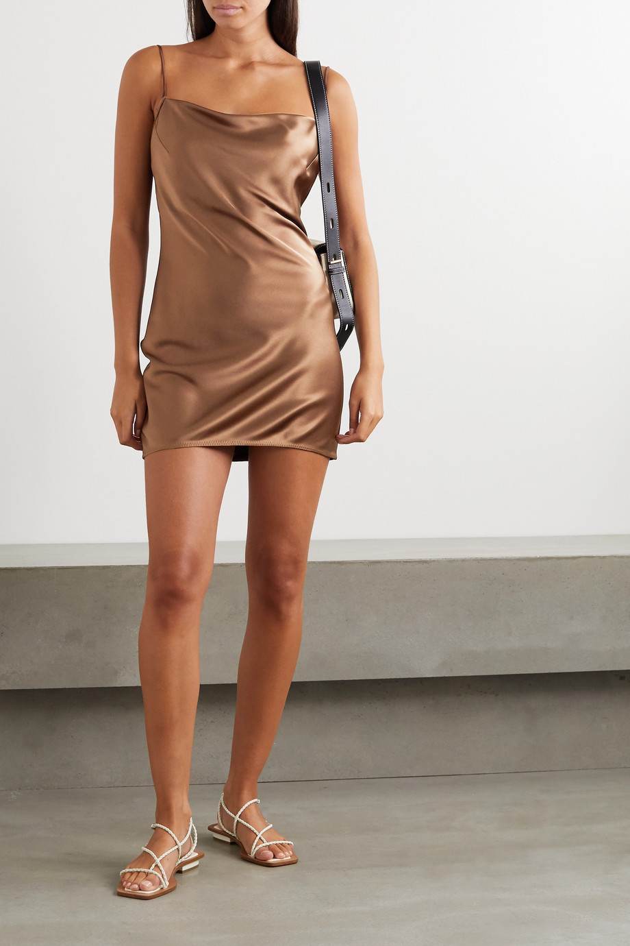 Nanushka Lotti draped satin mini dress