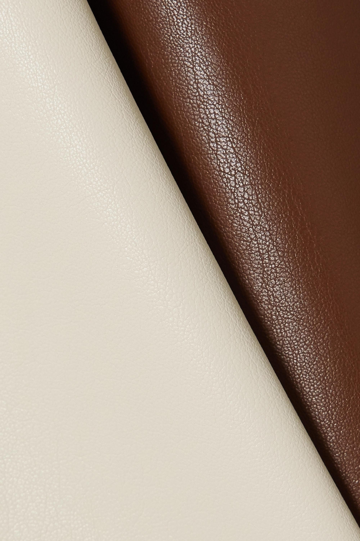 Nanushka Artem color-block vegan leather midi skirt