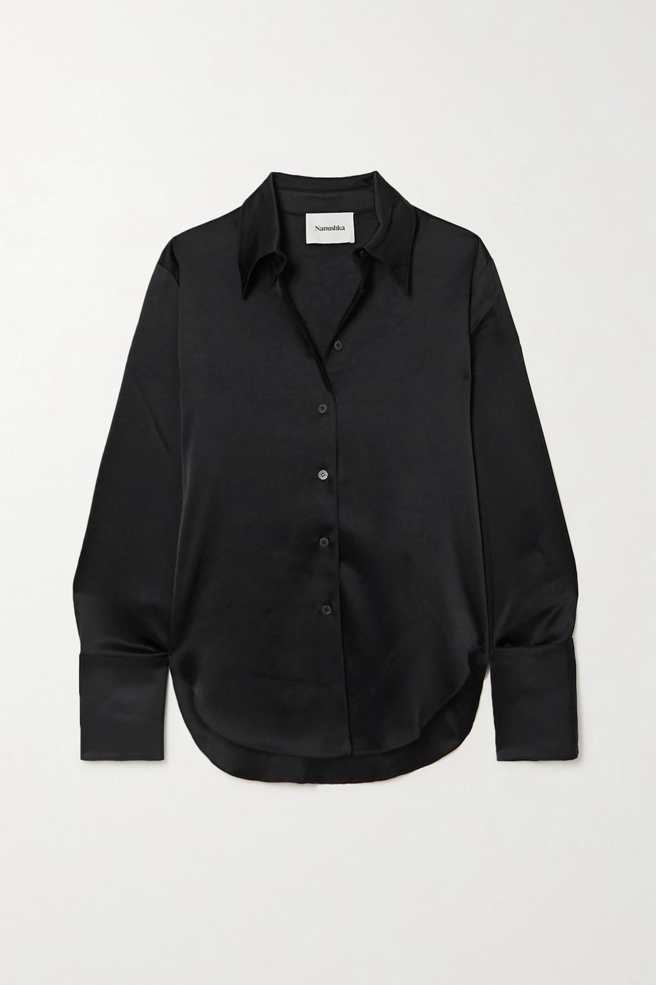 Nanushka + NET SUSTAIN Mandine satin shirt