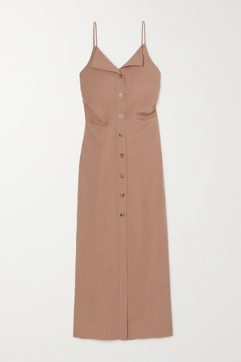 Nanushka Paz open-back woven midi dress