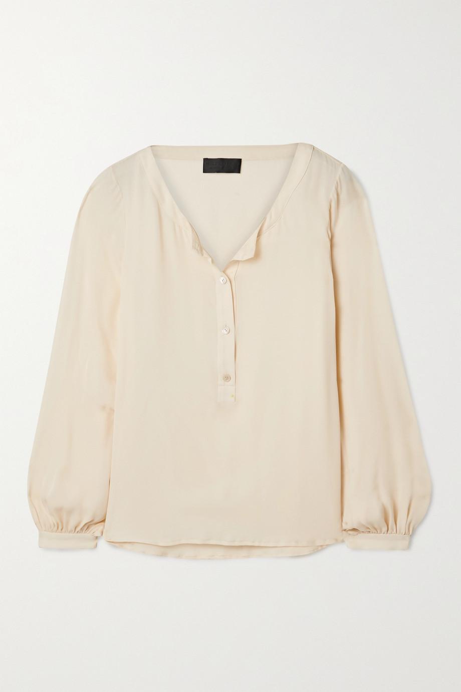 Nili Lotan Kelly silk-georgette blouse
