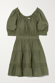 Ulla Johnson Celia tiered gathered cotton-poplin mini dress
