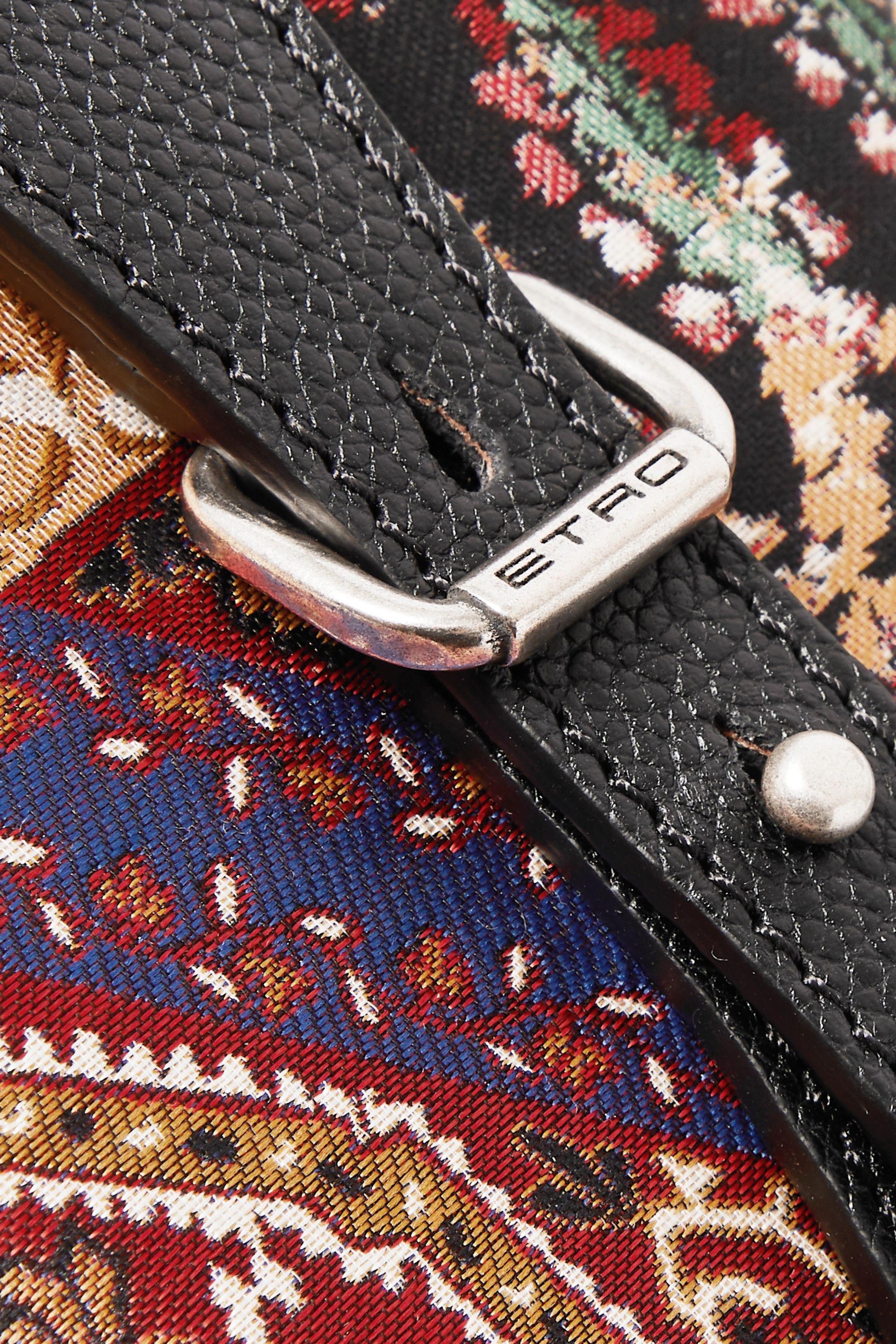 Etro Beutel aus Jacquard und strukturiertem Leder