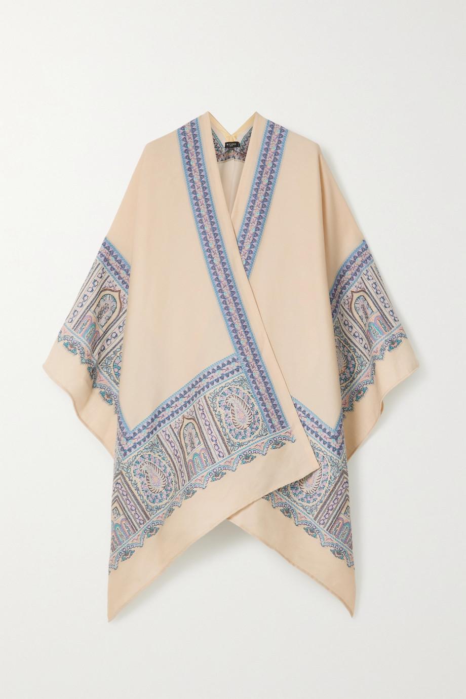 Etro Mantella wool-blend jacquard wrap