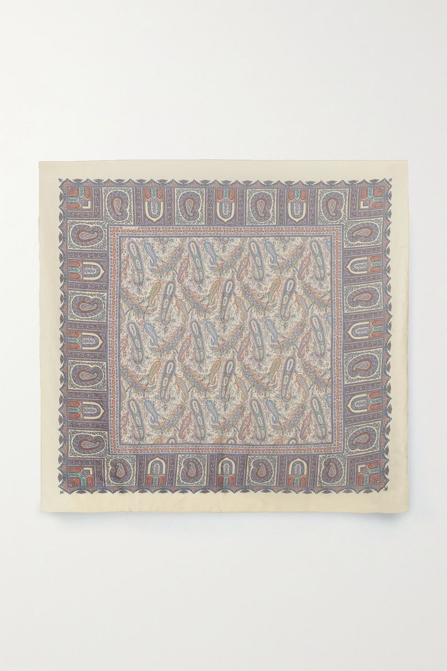Etro Bombay paisley-print wool and silk-blend scarf