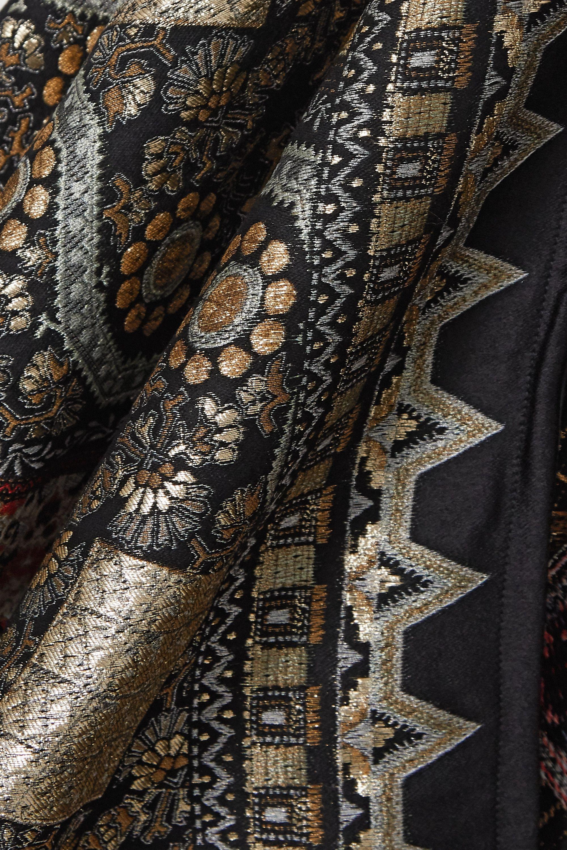 Etro Metallic wool-blend jacquard wrap