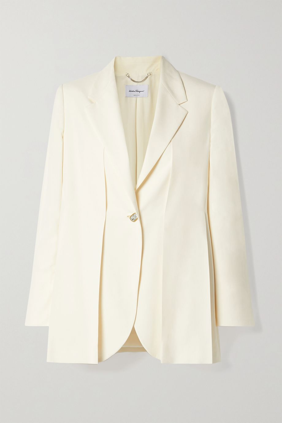 Salvatore Ferragamo Pleated washed-silk blazer