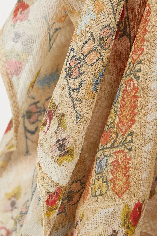 Etro Poncho en mousseline de soie imprimée