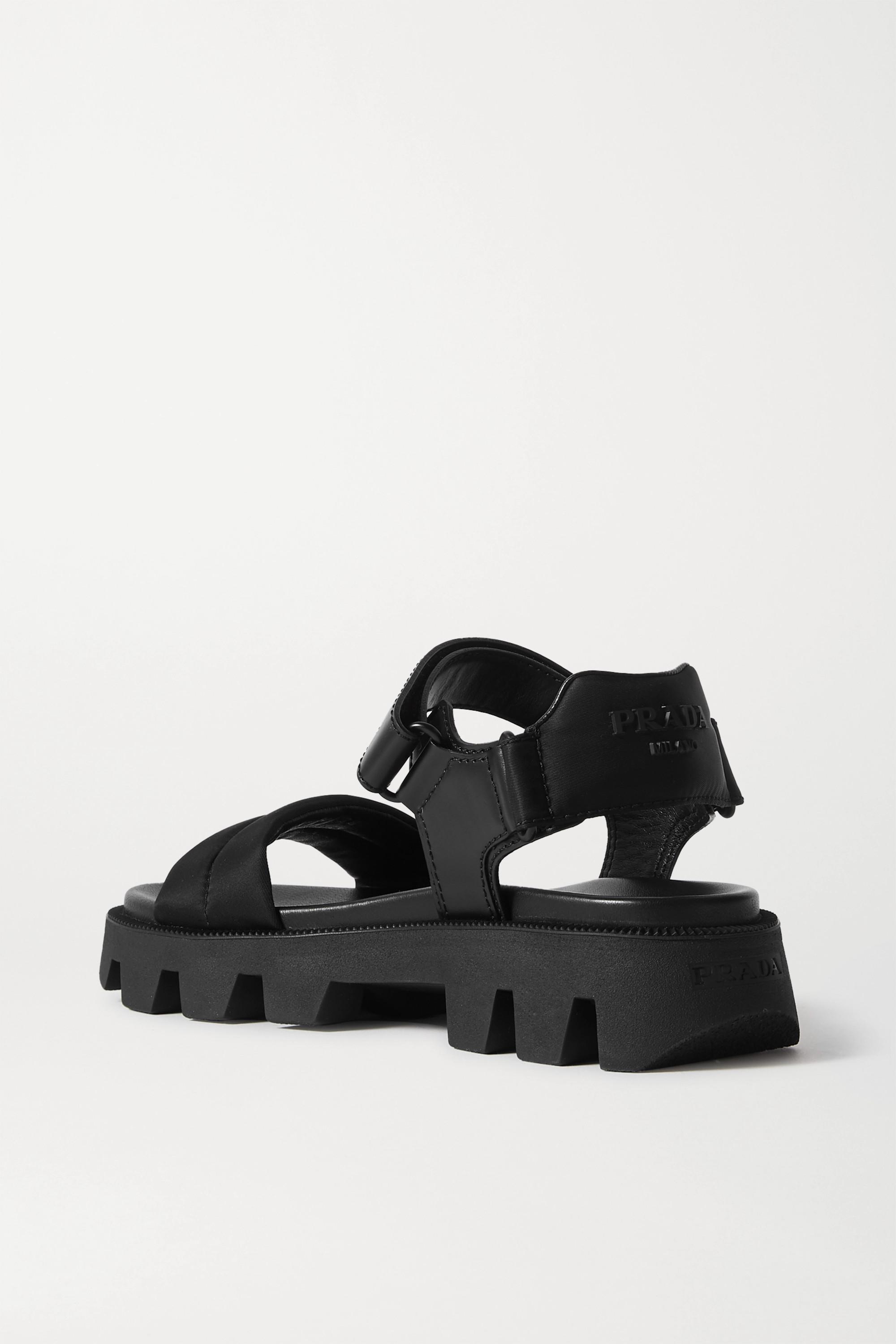 Prada Leather and nylon sandals