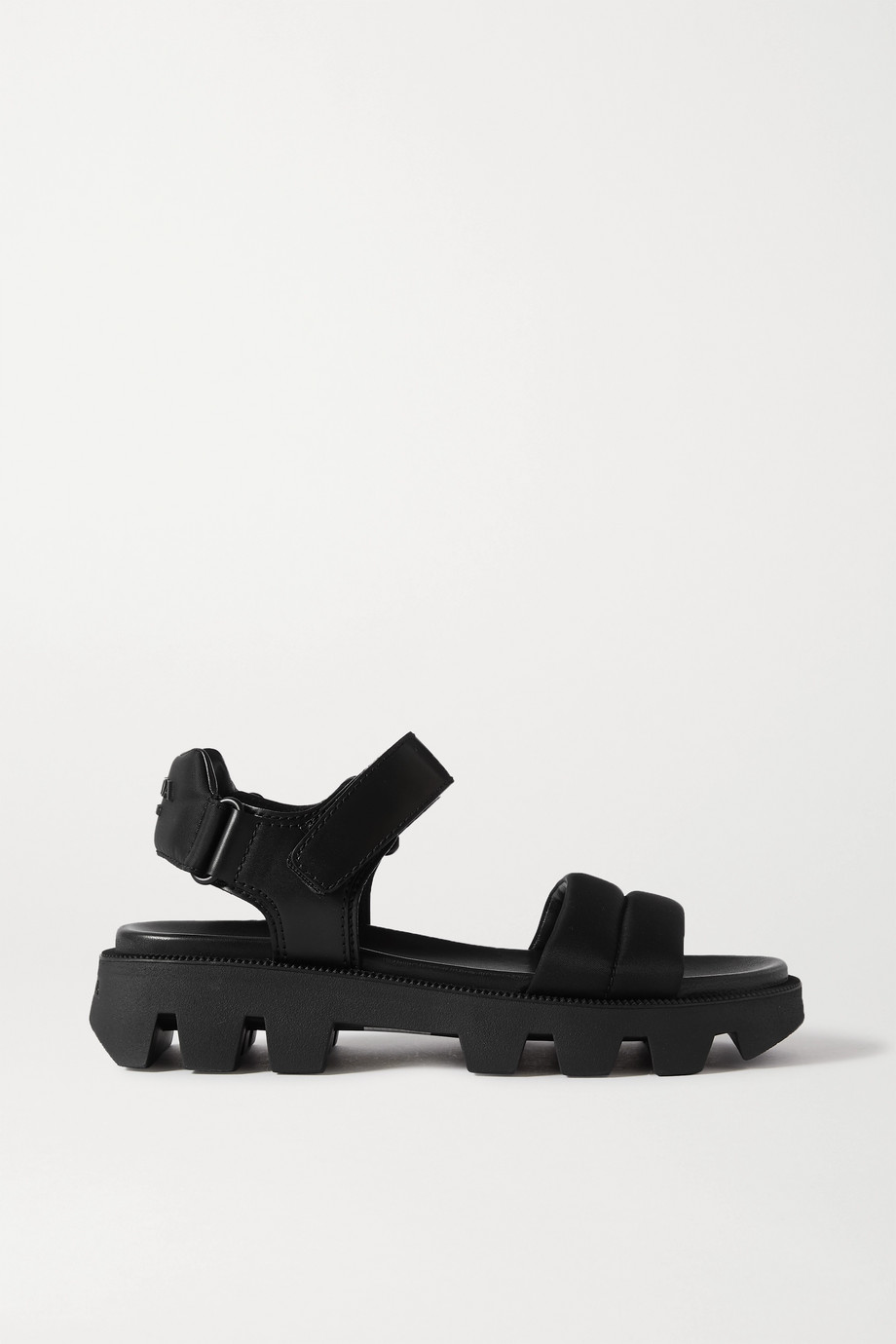 Prada Leather and nylon sandals