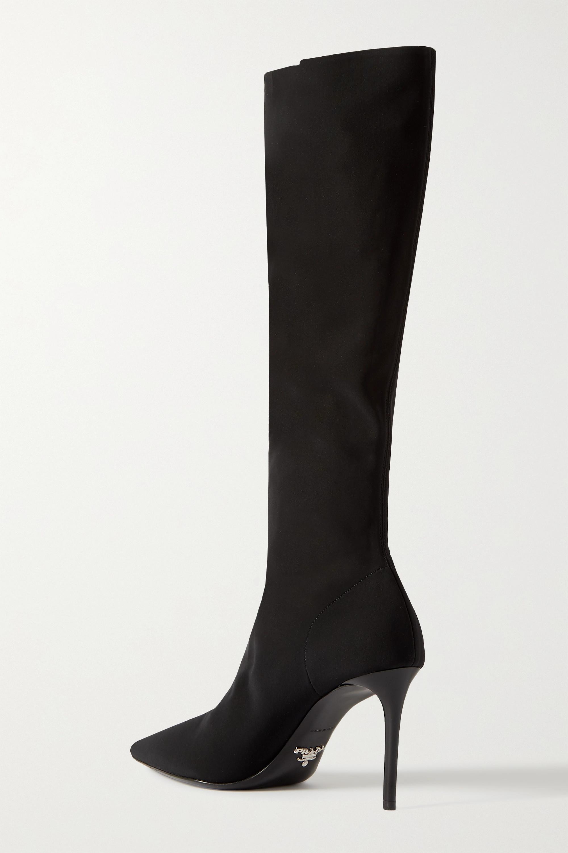 Prada 85 stretch-knit knee boots