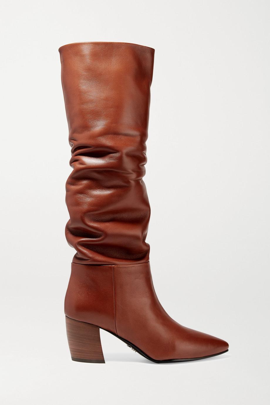 Prada 65 kniehohe Stiefel aus Leder
