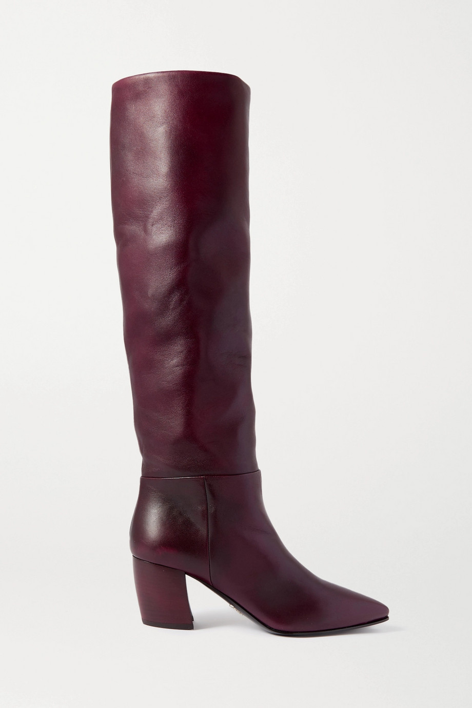 Prada 65 leather knee boots