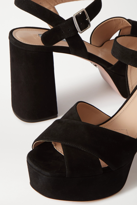 Prada 105 suede platform sandals