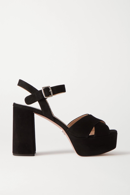 Prada - 105 suede platform sandals
