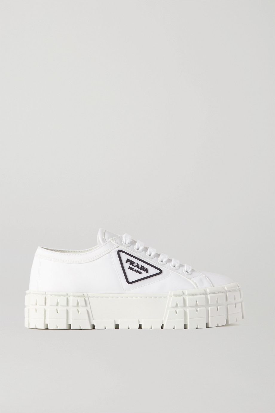 Prada Wheel logo-detailed canvas platform sneakers