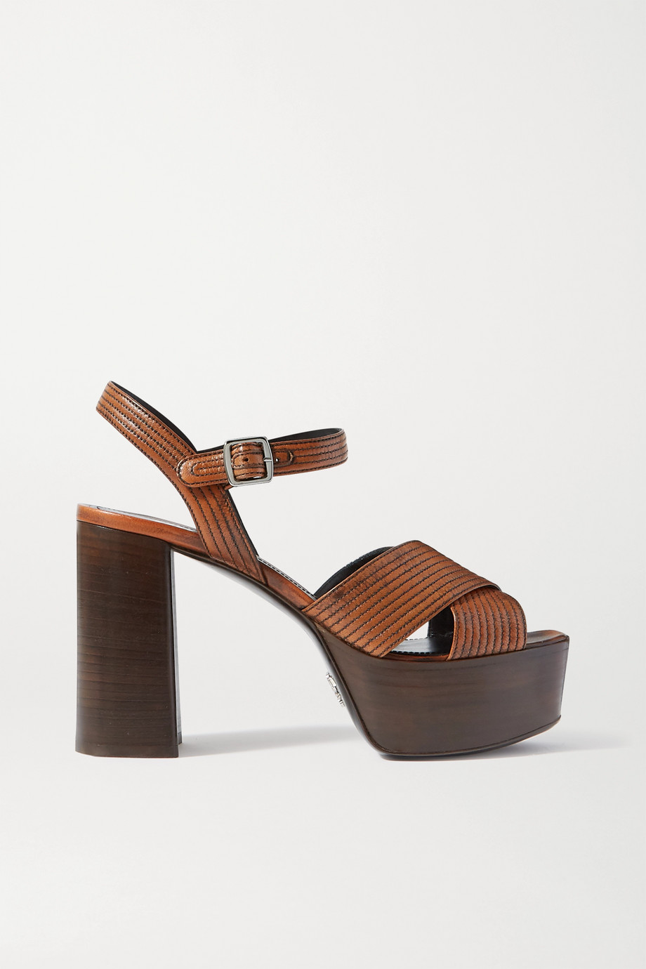 Prada 105 leather platform sandals