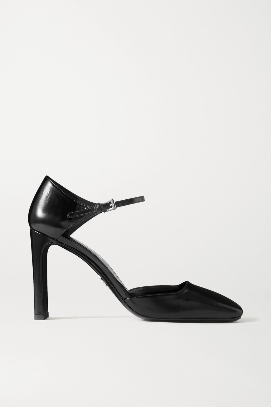 Prada 95 glossed-leather pumps