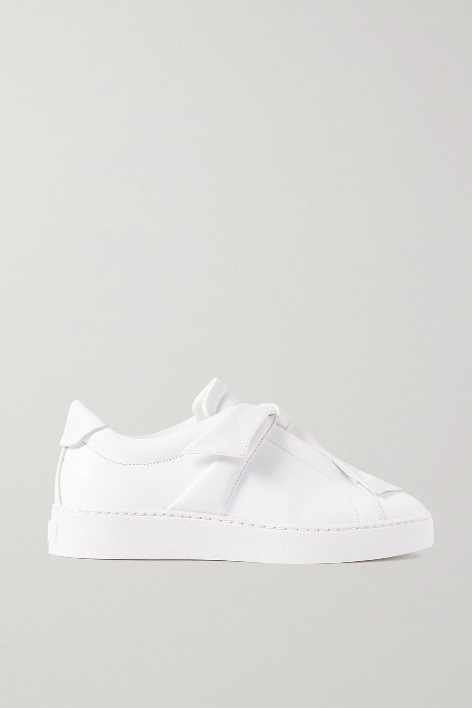 Alexandre Birman Clarita bow-embellished leather slip-on sneakers