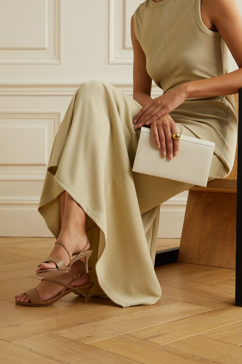 Alexandre Birman Veronica 皮革凉鞋