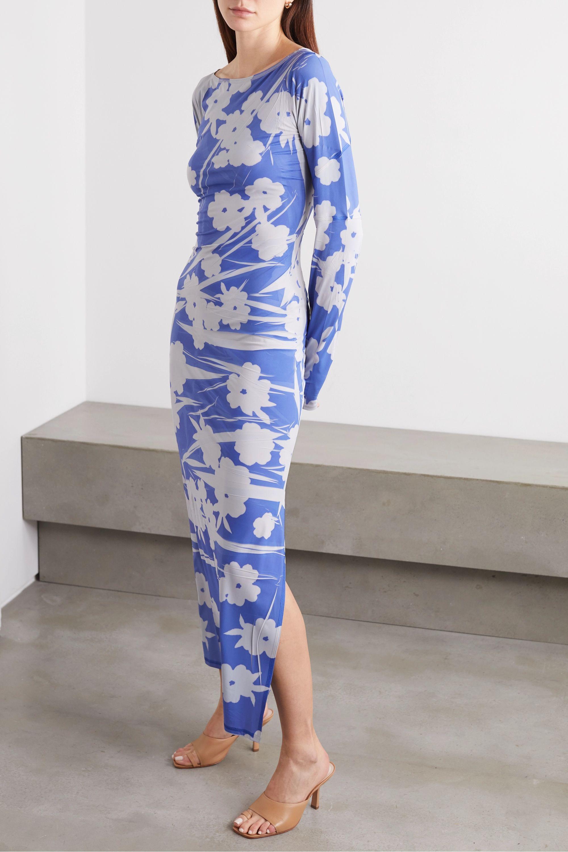 ioannes Floral-print stretch-jersey maxi dress