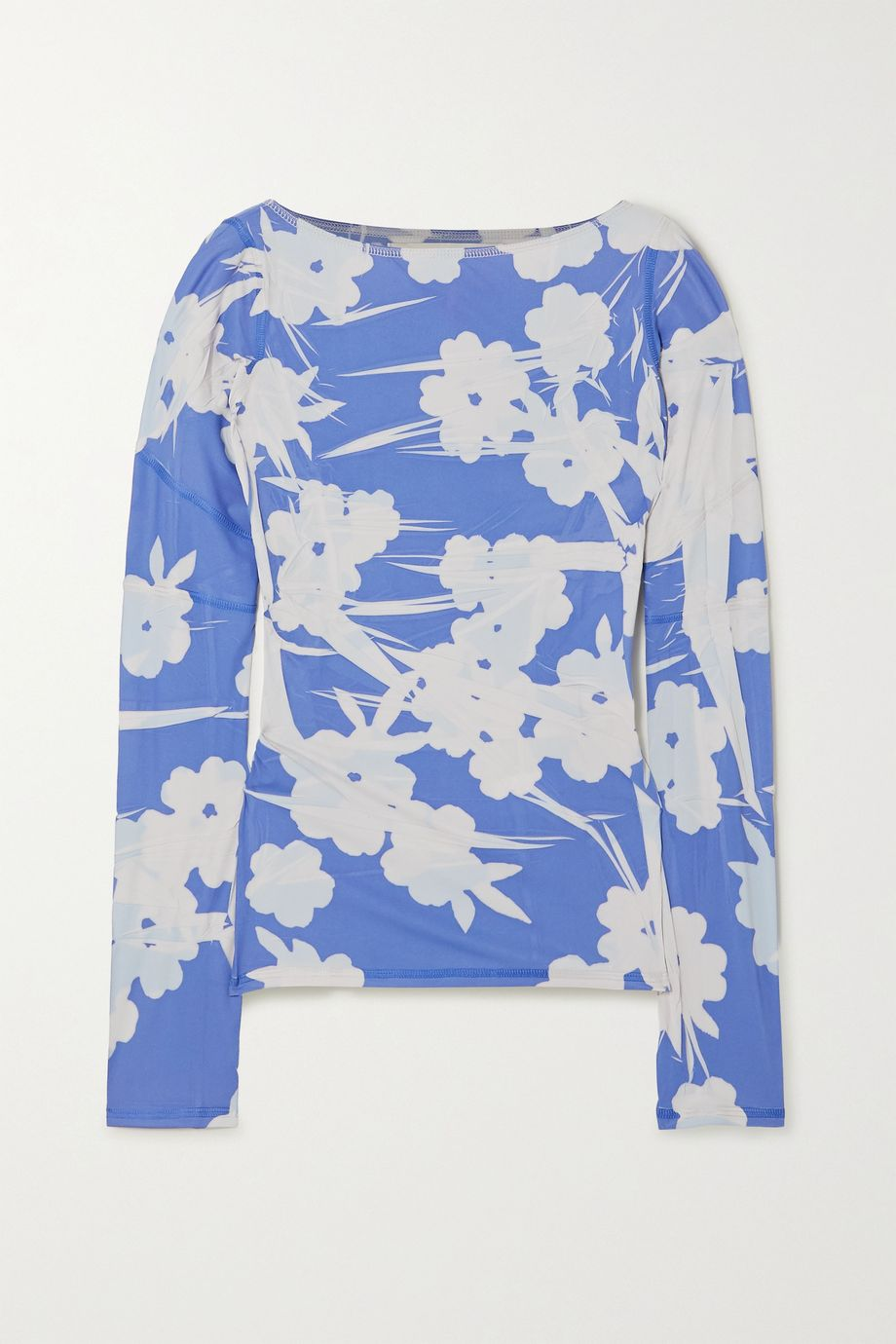 ioannes Floral-print stretch-jersey top