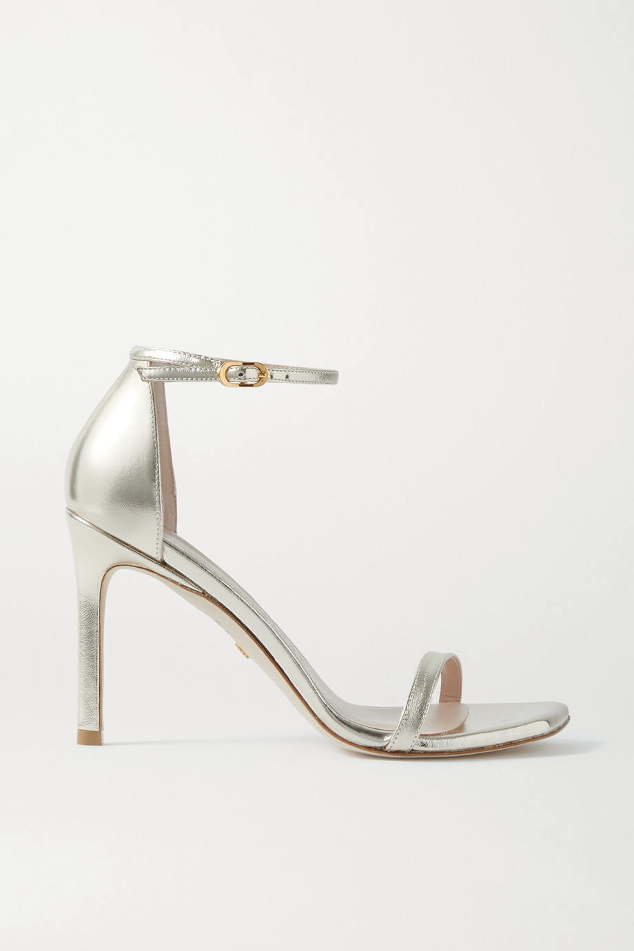 Stuart Weitzman Amelina metallic leather sandals