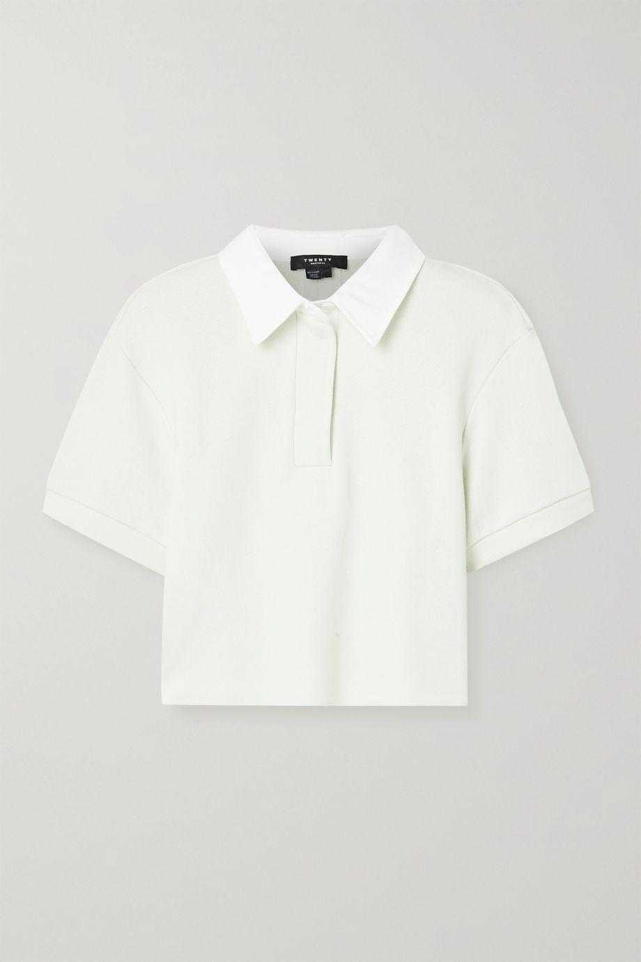 TWENTY Montréal Sunnyside cropped cotton-blend jersey top