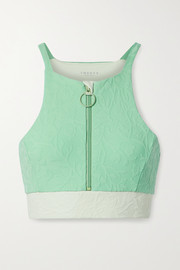TWENTY Montréal Bougainvillia 3D color-block textured stretch sports bra