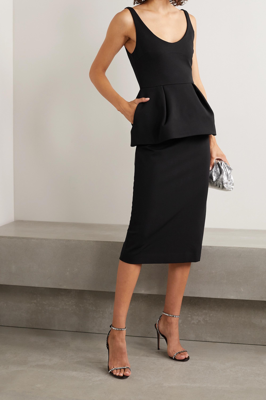 Cushnie Stretch-crepe peplum midi dress