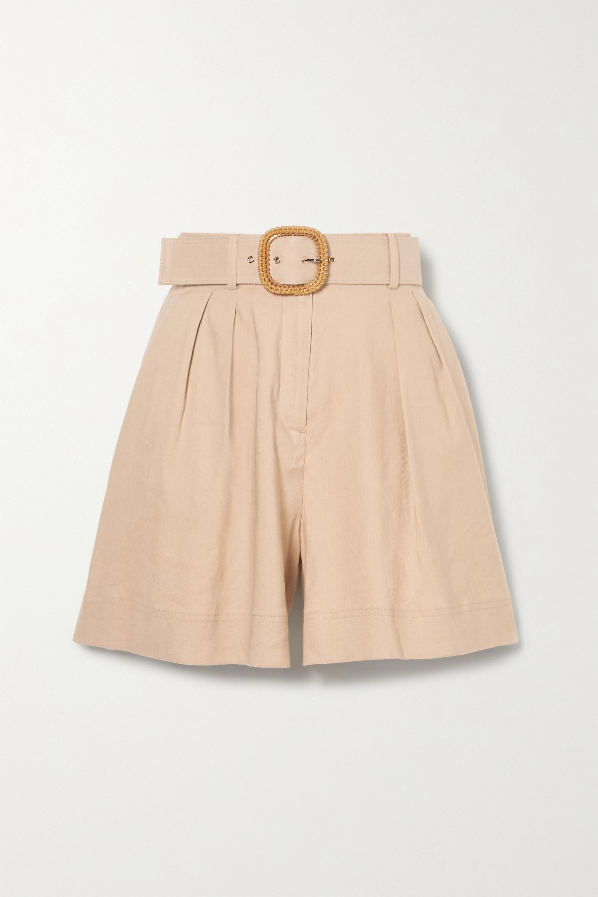 Rebecca Vallance Mojito Shorts aus einer Leinenmischung mit Gürtel