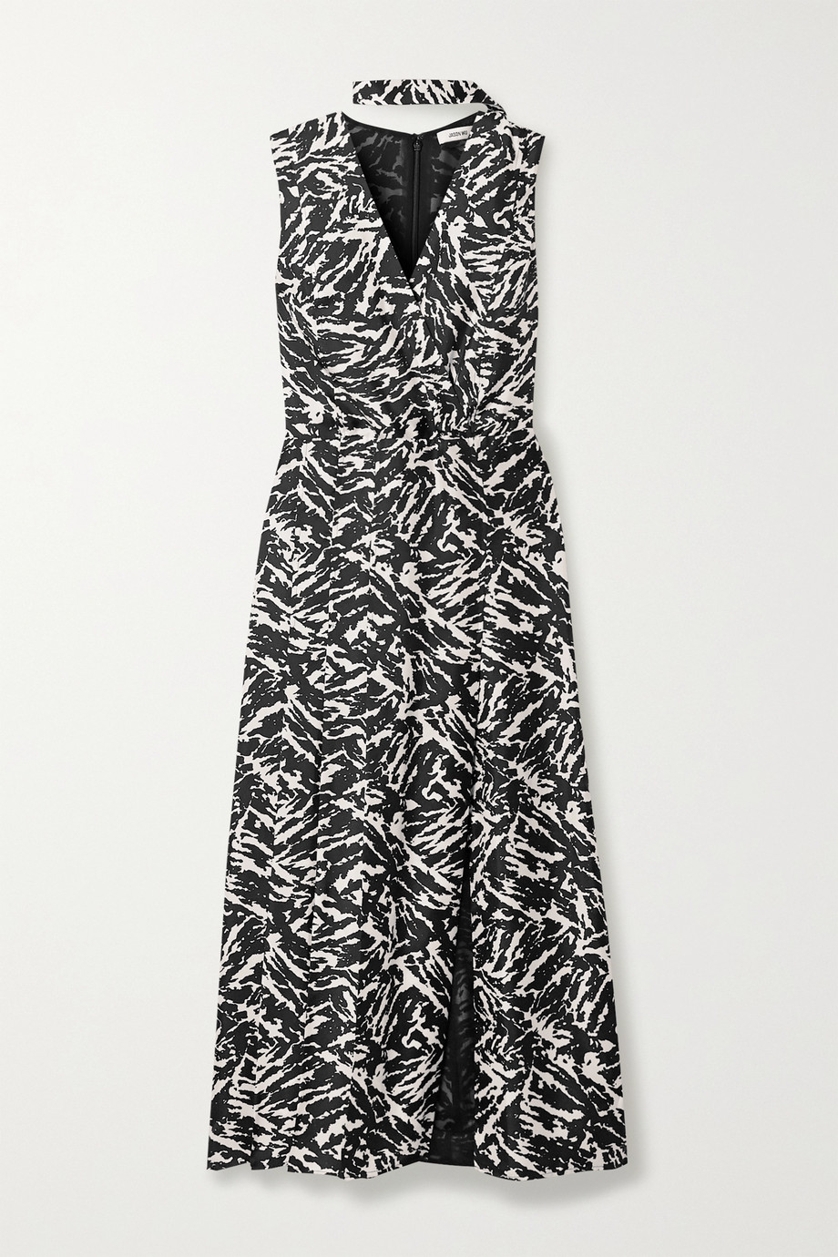 Jason Wu Zebra-print silk-twill midi dress