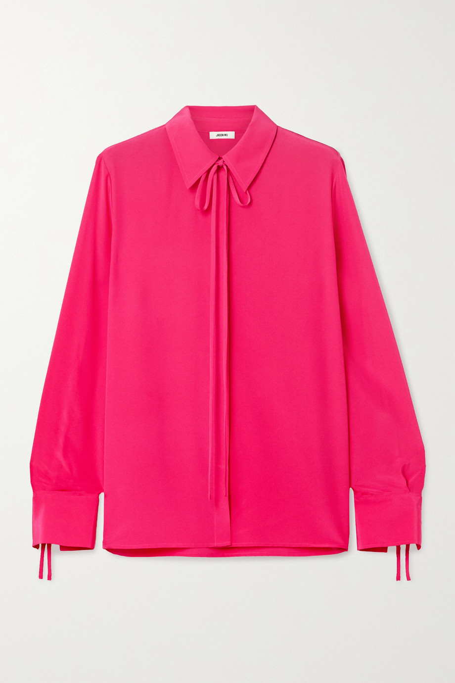 Jason Wu Tie-neck silk crepe de chine blouse